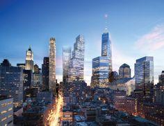 A rendering of Bjarke Ingels' plans for 2 World Trade Center in Lower Manhattan.