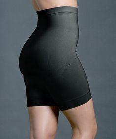 d0d2158d871 Black Firm-Compression High-Waist Shaper Shorts - Plus Compression Shorts