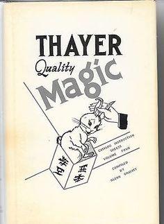 Thayer Magic Catalog Instruction Sheets Vol 4 hardbound book Magic Limited Collectibles:Fantasy, Mythical & Magic:Magic:Magician Memorabilia, Ephemera www.webrummage.com $39.99