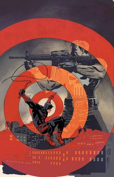 "bear1na: "" Daredevil and Punisher by Reilly Brown * """