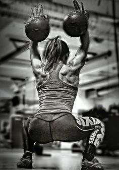 Strong girls are beautiful #crossfit #kettlebells
