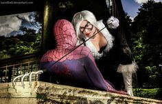Black Cat and Spiderman Cosplay in the diamond The by karollhell.deviantart.com on @DeviantArt