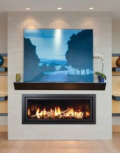 Linear Wall Fireplace Main Street Stove Modern Gas Inserts