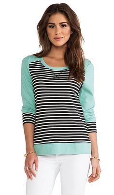Stripe & Mint Pullover