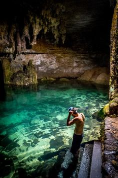 Cenote Choo-Ha, Quintana Roo, Mexico — by Sergio Camalich. Snorkeling in cenotes is both awesome and scary. Can't wait to get my diving certificate and dive in them too.