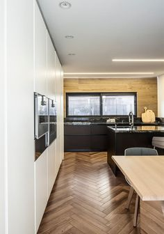 foorni.pl | Biuro w domu, białe fronty w kuchni