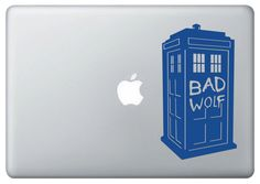 """Doctor Who """"Bad Wolf"""" Tardis Vinyl Decal by ECKDesigns on Etsy, $7.00"""