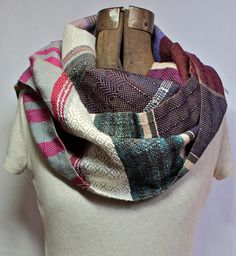 Krista - Handwoven Violet, Sunflower and Magenta Scarf by pidgepidge (Scheduled via TrafficWonker.com)