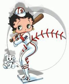 Betty Boop.......In for a home run.