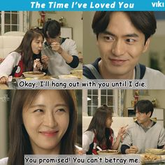 """Ha Ji Won and Lee Jin Wook make a """"Jajangmyeon Promise"""" to be Best Friends Forever. Don't miss this moment in #VikiExclusive 'The Time I've Loved You'"""