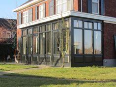 serre-uitbouw - Villa, Brick, Windows, House, Home Decor, Doors, Ideas, Patio, Green Houses