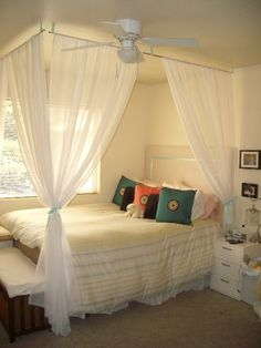 Romantic College Bedroom, I used decorating tips from Design on a Dime and a variety of HGTV resources to come up with the romantic inspirat...