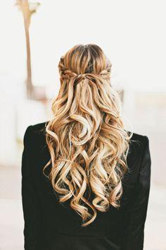 Chic Braided Wedding Hairstyles - A Little Dash of Darling via Hair Romance Big Hair, Your Hair, Fancy Hair, Pretty Hairstyles, Wedding Hairstyles, Wedding Updo, Braided Hairstyles, Updo Hairstyle, Braided Updo