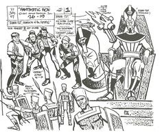 Alex Toth designs for Galactus, Blastaar, Rama-Tut, Sue Storm, The Molecule Man & more, all for the 1967 Hanna-Barbera Fantastic Four cartoon. (All from Alex Toth: By Design, by the artist & Darrell McNeil.)