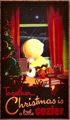 Snoopy, peanuts, friends, together at Christmas
