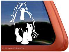 Amazon.com: Gypsy Horse Trailer Vinyl Window Decal Sticker: Automotive