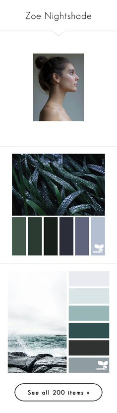 """""""Zoe Nightshade"""" by hyperducky ❤ liked on Polyvore featuring caitlin stasey, design seeds, backgrounds, color palette, colors, aesthetic, moon, nature, sky and animals"""