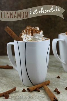 Cinnamon Hot Chocolate Recipe - Pandora's Deals  So easy to make and perfectly delicious on a cold day!