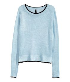 Knitted jumper | Light blue | Ladies | H&M IL