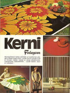 Kerni - uusi materiaali, mainos 70-luvulta (70-luvulta, päivää ! -blogi)