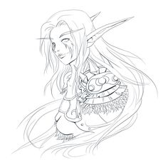 wow elves coloring pages | DeviantArt: More Like Warlock OC -nameless- by Saradain