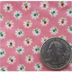 1930s Cotton Fabric Pink with Tiny Print Quilts, Aprons, Clothing from toinetterl on Ruby Lane