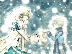 Awwwww. Yuui and Fai! ~ Tsubasa. Fanart TRC Cold Hands... by ~rainfreak on deviantART.