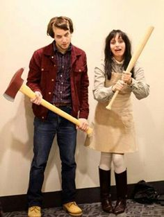 DIY Funny, Clever and Unique Couples Halloween Costume Ideas DIY-Paare Halloween-Kostüm-Ideen – Jack und Wendy – Scary The Shining Movie Characters Paare-Kostüm-Idee via Gurl Costume Halloween, Unique Couple Halloween Costumes, Last Minute Halloween Costumes, Halloween 2017, Halloween Diy, Unique Couples Costumes, Couple Costume Ideas, Movie Couples Costumes, Funny Couple Halloween Costumes