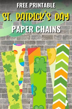 If you're looking for a free decorating idea for your St. Patty's celebrations, then these free printable St. Patrick's Day Paper Chains are just what you need! Print them at home and assemble them to create long paper chains to hang around your home. Get the kids involved too – they're so easy to make! Rainbow Paper, Rainbow Art, Party Printables, Free Printables, Easy Party Decorations, Purple Pumpkin, Paper Chains, Pot Of Gold, Luck Of The Irish