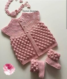 All you have to do is leave no good, useful work to tomorrow. Baby Hats Knitting, Baby Knitting Patterns, Hand Knitting, Knitted Hats, Crochet Baby Jacket, Knitted Baby Cardigan, Knit Crochet, Baby Winter, Baby Sweaters