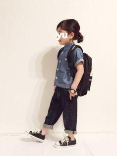 yuuunaさんの「半袖ライトデニムシャツ(b-room|ビールーム)」を使ったコーディネート