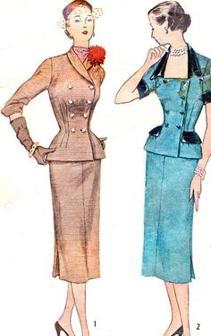1950s Dress Pattern Simplicity 3632 Two Piece by paneenjerez, $18.00