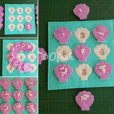 OFNAH - 6X6 & 8X8 COUNTING PEARLS ITH QUIET BOOK PAGE