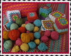 On the ball again when it comes to crocheting #grannysquares! #crochet #craft #yarn