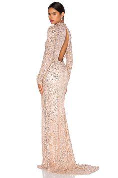 Parker Black Ronda Embellished Dress in Blush | REVOLVE
