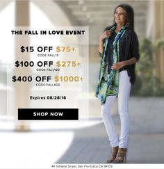 """Hi friends!<br /><br /> Enjoy the promotion """"Fall in Love Event""""…"""