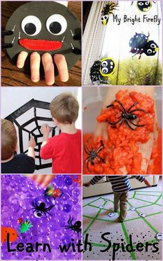 13 Most Exciting Ideas for Learning with Spiders. Spiders Crafts and Games Preschool Activities.