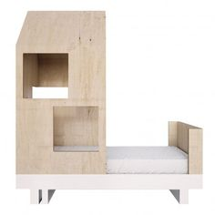 Kutikai Lit junior cabane 80x160 cm Natural - Kids' Furniture - Smallable