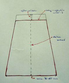 Jitu: Jednoduchá sukně do nápletu - fotonávod Line Chart, Sewing Patterns, Blog, Factory Design Pattern, Patron De Couture, Dress Patterns