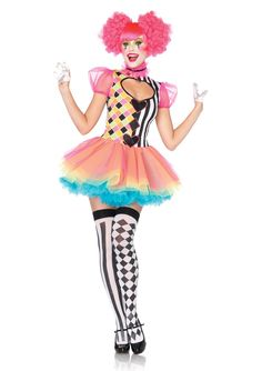 1 PC Sweet Heart Harlequin, features a key hole dress with glitter applique accents and puff sleeves, multi color glitter tutu skirt, and tulle ruffle choker.