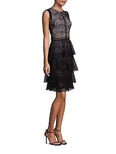 Prose & Poetry Tiered Lace Dress