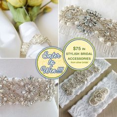Enter to Win $75 in Stylish Bridal Accessories from Silver Bridal on www.BrendasWeddingBlog.com #giveaways