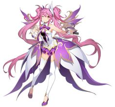 Grand Chase for kakao Amy Female Character Design, Cute Anime Character, Cute Characters, Fantasy Characters, Character Concept, Female Characters, Anime Characters, Character Art, Manga Anime