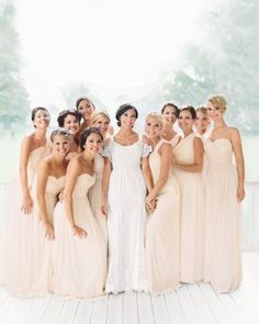 We Kept The Day S Colors As Understated Possible Because Wanted Natural Beauty Wedding Bridesmaidsj Crew Bridesmaid Dressescasual
