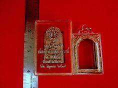 Thai Amulet Phra Somdej Wat Rakang 2537 Buddha Blessed+Cased+Temple Box Charm