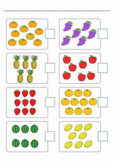 Body Preschool, Numbers Preschool, Preschool Printables, Preschool Math, Teaching Math, Kindergarten Math Worksheets, Preschool Activities, Abacus Math, Math Card Games