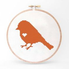 Bird Cross Stitch Kit I now featured on Fab.