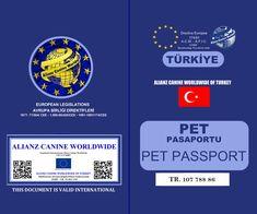 ALIANZ CANINE WORLDWIDE OF TURKEY – PET PASSPORT | Alianz Eurasia Passport, Turkey, Pets, Turkey Country