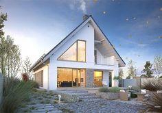 Projekt domu Dostępny 5 135,5 m2 - koszt budowy - EXTRADOM Postmodernism, Home Fashion, Cabin, House Styles, Outdoor Decor, Post Modern, Montana, Home Decor, House Ideas