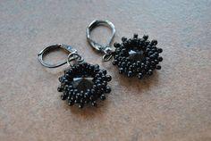 Swarovski earrings.
